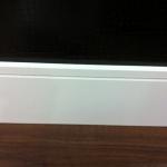 Rodapé MDF Square100 10cm Branco revestido 100x15x2400mm  (PRONTA ENTREGA)