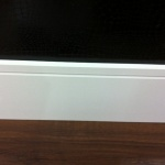 Rodapé MDF Square150 15cm Branco revestido 150x15x2400mm  (PRONTA ENTREGA)