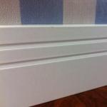Rodapé  MDF  2 frisos 10cm branco revestido 100x15x2400mm  (PRONTA ENTREGA)