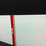 Rodapé  MDF Lacca 40cm 2 frisos branco 400x15x2400mm