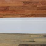 Rodapé  MDF Lacca 2 frisos 35cm branco 350x15x2400mm