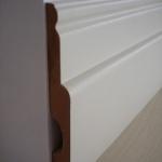 Rodapé /Guarnição MDF Clássico 12cm Branco revestido 120x18x2400mm (PRONTA ENTREGA)