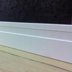 Rodapé/Guarnição MDF Chanfro 6cm  Branco revestido 60x15x2400mm  (PRONTA ENTREGA)