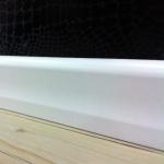 Rodapé MDF Curvo 6cm  Branco revestido 60x15x2400mm  (PRONTA ENTREGA)