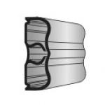 Conjunto Protetor de Parede Bate-Macas PVC TEC 127 6cm 60x4000x20mm