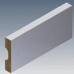 Rodapé/Guarnição MDF 7cm Branco revestido  70x15x2400mm  (PRONTA ENTREGA)