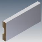 Rodapé/Guarnição MDF 5cm Branco revestido  50x15x2400mm  (PRONTA ENTREGA)