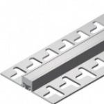 Junta de dilatação para pisos cerâmicos - Junta de Dilatação em PVC TEC 192 10mm