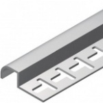 Acabamento para azulejos em geral - Terminal meia parede em PVC TEC 193 8mm