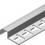 Acabamento para azulejos em geral - Terminal meia parede em PVC TEC 194 10mm