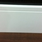Rodapé MDF Square200 20cm Branco revestido 200x15x2400mm  (PRONTA ENTREGA)
