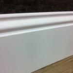 Rodapé MDF Lacca Bico de Pato 20cm branco  200x15x2400mm (PRONTA ENTREGA)