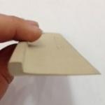 Acabamento Reto Flexível em PVC 4x5x2500mm