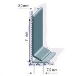 Rodapé Vinílico Flexível em PVC 7cm com aba curva 70x2x25000mm