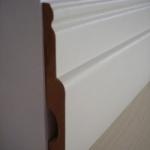 Rodapé /Guarnição MDF Clássico 12cm grosso Branco revestido 120x25x2400mm