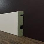 Rodapé/Guarnição MDF Ultra PET Reto 9,5cm Branco  95x15x2400mm  (PRONTA ENTREGA)