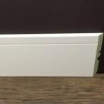 Rodapé MDF Ultra PET 01 friso 12cm Branco 120x15x2400mm  (PRONTA ENTREGA)