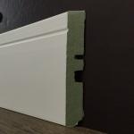 Rodapé MDF Ultra PET 01 friso 15cm Branco 150x15x2400mm  (PRONTA ENTREGA)