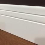 Rodapé MDF Ultra PET 02 frisos 12cm Branco 120x15x2400mm  (PRONTA ENTREGA)