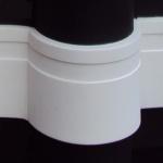 Rodapé EVA Flexível Branco Guaruja 12cm 120x14x3000mm