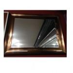 Espelho Ornamental Alumium Bisotê Cobre grande 50x70cm (PONTA DE ESTOQUE 01 peça)