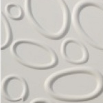 Revestimento para parede decorativo 3D Decor  branco Acqua  500x500mm