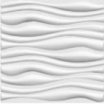 Revestimento para parede decorativo 3D Decor  branco Wellen 500x500mm