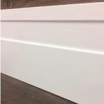 Rodapé MDF Indy 15cm  branco revestido 150x15x2400mm