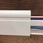 Rodapé PVC removível 8cm branco  80x15x2400mm