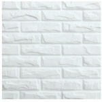 Revestimento para parede decorativo 3D Decor  branco Brick 500x500mm