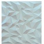 Revestimento para parede decorativo 3D Decor  branco Impress 500x500mm