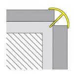Canto externo de sobrepor em PVC TEC 301 para acabamento em azulejo -  19,4x14,3x1x2700mm