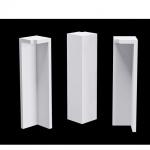 Terminal Canto Externo Santa Luzia branco 104x25x25mm